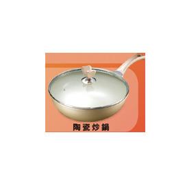 贈品隨意賣【丹露】《DANRO》5.5L◆超合金鍋身/陶瓷塗層/強化玻璃鍋蓋◆ 陶瓷鑽石炒鍋