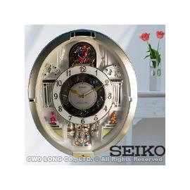 SEIKO 精工掛鬧鐘 國隆 QXM290S 施華洛斯奇水晶可愛人偶音樂掛鐘_一年 _開發