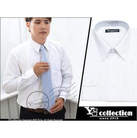 ╰~YZ collection~╮免燙防皺長袖男士襯衫、上班族 ^(白色白條紋^)