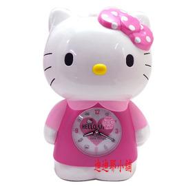 Hello Kitty~人形站姿鬧鐘~點點粉結   JM~E699