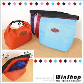 【Q禮品】A1465 日韓流行素面帆布可扣保暖保冷袋-小/便當袋飯盒袋手提袋野餐袋保冰袋保溫袋