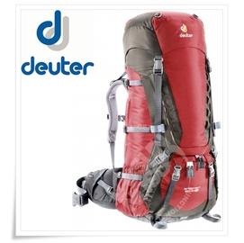 【德國 Deuter】Aircontact 60L+10L SL女款拔熱式透氣背包.健行登山背包.自助旅行背包 (七頂峰攀登隊指定款) 紅/棕 33452 DA