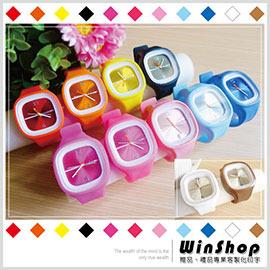 【winshop】A1467 矽膠果凍錶(方形)/方形糖果錶男女電子錶多功能運動手錶矽膠表腕表