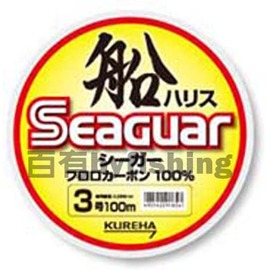 ◎百有釣具◎日本原裝 Seaguar 船 漁業用碳纖/Carbon線 100M 規格12號~特殊技術FNT製法を採用
