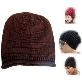 ~海倫精坊~魅力風尚款^~長版橫織紋棕色毛帽^( 1 5 0 元^)男女適B832