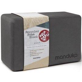 Manduka Recycled Foam Block Thunder 單色瑜珈磚 鐵灰色