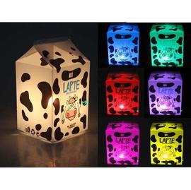 創意七彩 LED牛奶盒燈  可愛乳牛安睡燈 DIY組合 /床頭燈/夜燈