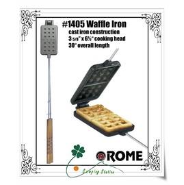 大林小草~【rme-1405】美國ROME鑄鐵長方形鬆餅烤盤