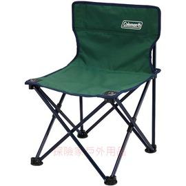 CM-7687美國Coleman輕量小型休閒椅 彈性椅Ⅱ(綠) 兒童椅 導演椅 折疊椅