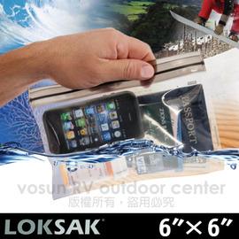 [ 美國 LOKSAK ] aALOKSAK2 6x6吋超強密封防水袋/拉鍊儲物袋.防潮.可觸控.收納.整理袋.登山.旅遊.潛水.釣魚.相機.手機平板.食藥品.護照