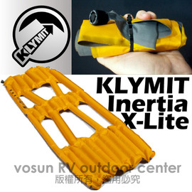 【美國 Klymit 】Inertia X-Lite世界最輕首推半身睡墊(附pump) 輕量空氣墊.露營登山床墊.(非Therm-A-Rest/自動充氣)/橘 06ILOr01A