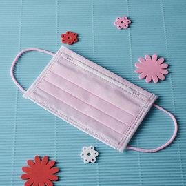 ~雨晴牌-抗UV三層不織布口罩~^(彩色耳帶^)^(A級高效能^)~兒童-粉紅色~ 超美粉