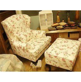 上福 ^~美式沙發 鄉村風 布沙發.主人椅.含腳椅..座墊可拆洗..高品味