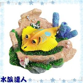 【水族達人】【裝飾品】水族先生Mr.Aqua《氣動飾品-魟魚.R-MR-016》RMR016 造景裝飾