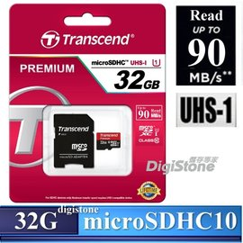 ~免 贈SD收納盒~創見 32GB Micro SDHC C10 UHS~I R90MB