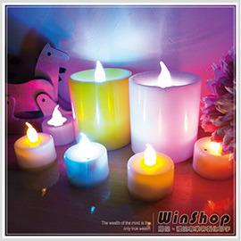 【winshop】A1489 七彩聲控大蠟燭燈/杯燈生日蠟燭小夜燈造型燈婚禮佈置LED可吹熄蠟燭燈