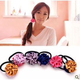 限量版韓國手工花球髮繩髮圈新潮時尚簡約頭飾髮飾