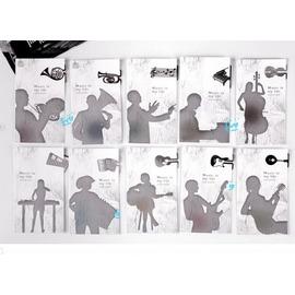 創意 樂器系列金屬書籤夾+留言卡 ◇音樂/書夾/金屬書簽