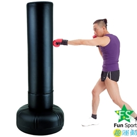 ~FunSport~大型拳擊座打擊練習器~195cm^(23公斤^)含護套 手套