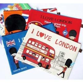 (特賣)英倫風 可愛倫敦小士兵 帆布A4 文件袋  /收納袋/票據袋/復古 資料袋