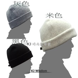 ~KJ 家~隨性風格反摺保暖帽 帽子 保暖帽 毛帽