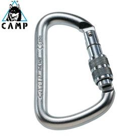 【義大利 CAMP】D-shape Steel Bet Lock 1T鉤環 / 登山.攀岩專用.吊掛.搜救 / CA1877