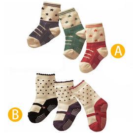 日單寶寶純棉防滑假鞋襪三雙一組/地板襪(A/B)【HH婦幼館】