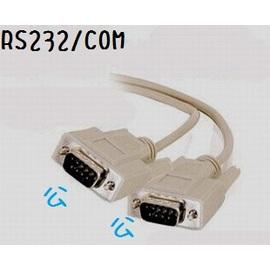 遊戲手把/搖桿接頭 RS232線/COM阜線 (9針) 公對公  1.5米