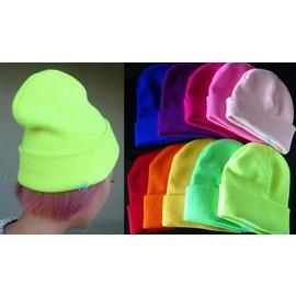 酷炫超人氣  螢光派對針織毛線帽  ◇/螢光糖果色毛線帽針織帽