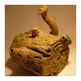 ~柳棠工藝~ 黃國雄老師 陶壺 茶壺 茶杯 茶葉沖泡茶具組 特殊漂流木 藝術 值得您收藏!
