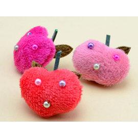 韓式純手工珍珠蘋果兒童髮夾頭飾髮飾