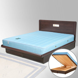 ~Homelike~朵拉5尺掀床組 獨立筒床墊~雙人 床台 床底 床頭片 ^(二色 ^)