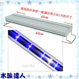 【水族達人】海薩 HEXA《S-450亮點LED上部燈12W(3W*4)1.5尺/全藍》S450 跨燈 41~49cm魚缸適用