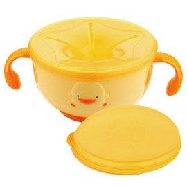 黃色小鴨- 防滑不易漏零食碗    *符合寶寶手型,鼓勵自我餵食!*