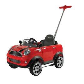 【紫貝殼】『CI21』Mini Coopers 握把式助步車 四輪後控助步車(紅) 超有趣的腳行車【店面經營/可預約看貨】