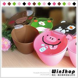 【winshop】★2組免運送到家★B1493日韓動物掀蓋式收納桶/雜物桶置物桶垃圾桶糖果罐收納罐