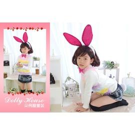 Dolly House ○朵俐屋○ ~YS6324~萬聖節扮演表演活動~桃色亮片兔女郎長耳
