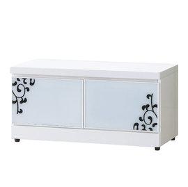 ~ ~ 摩登風潮白色鋼琴烤漆2.7尺白色座鞋櫃