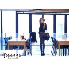 Deesse法國女神~D3120112~新 大牌夜店女裝長袖露背綁帶性感修身上衣 現 預