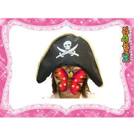 ~~~魔法盒子~~~派對舞會 萬聖節 聖誕節 表演假髮 表演服裝~虎克船長海盜帽子 勾子
