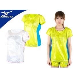 MIZUNO 女短袖風衣(路跑 運動 防風 抗紫外線 防撥水 免運【03330338】≡排汗專家≡