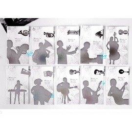 創意 樂器系列金屬書籤夾+留言卡 ◇/書夾/金屬書簽