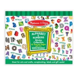 ~美國 Melissa   Doug~大型貼紙收藏簿:字母數字^(A0306^)