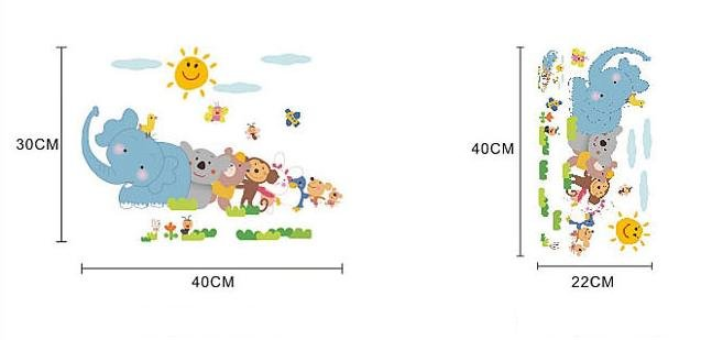 ppt儿童动物园边框素材 精致
