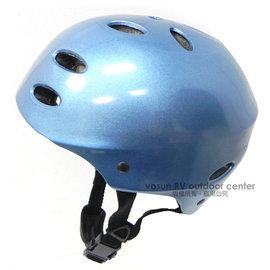 【VOSUN】 專業級 兒童安全帽.頭盔/輕量.透氣.自行車帽.腳踏車.直排輪.划板車.溜冰.防撞.蛇板(標準檢驗局合格標章)/藍  000250