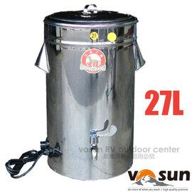 ~Farber~不鏽鋼 27L 自動溫控茶桶 超大水龍頭 內桶 #304 .茶壺.飲料桶.