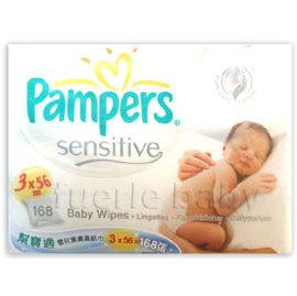 幫寶適嬰兒潔膚濕紙巾補充包56片3入