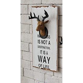 ^~微加幸福雜貨小築^~美式鄉村風 立體 鹿頭 掛畫 裝飾畫 壁掛 板畫 店家布置~大款~