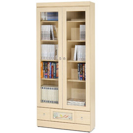 ~Homelike~自然風味下抽書櫃 展示櫃 收納櫃 書櫥 ^(白橡木紋^)