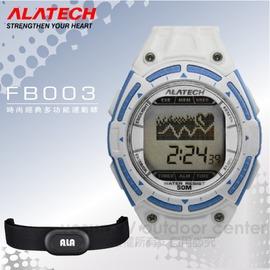 【ALATECH】時尚經典多功能運動錶.腕錶.車錶.手錶.碼表 /自行車訓練.跑步路跑.三鐵健身/ FB003 白